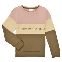 Vêtements Fille Sweats Name it NKFLIBEL LS SWEAT Beige / Rose / Kaki