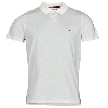 Vêtements Homme Polos manches courtes Tommy Hilfiger LINEN JERSEY SLIM PO, AF2 Blanc