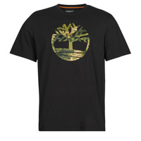 Vêtements Homme T-shirts manches courtes Timberland SS FT TREE TEE Noir