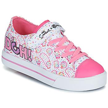 Chaussures Enfant Chaussures à roulettes Heelys SNAZZY Blanc / Rose / Lavande