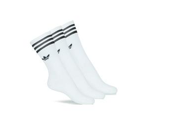 Sous-vêtements Chaussettes hautes adidas Originals SOLID CREW SOCK X3 Blanc