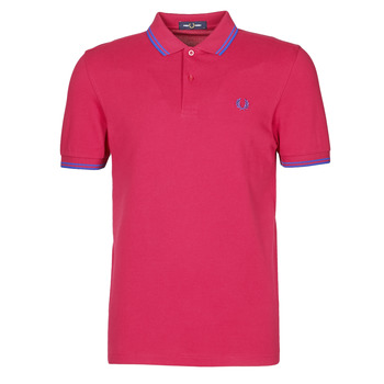 Vêtements Homme Polos manches courtes Fred Perry TWIN TIPPED FRED PERRY SHIRT Rouge