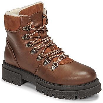 Chaussures Femme Boots Fericelli PISTACHE Cognac