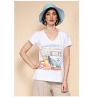 Vêtements Femme Tops / Blouses Fashion brands 8301-COMBI-SKY-BLUE Bleu