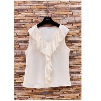 Vêtements Femme Tops / Blouses Fashion brands ERMD-13797-CP-BLANC Blanc