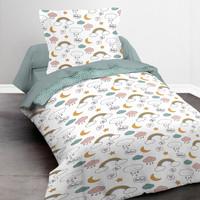 Maison & Déco Fille Parures de lit Today SWEETY 1.15 Blanc