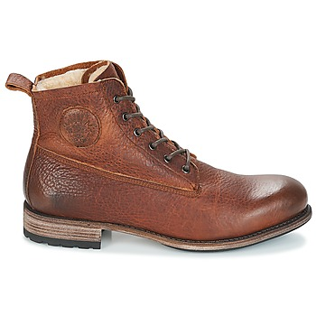 Blackstone MID LACE UP BOOT FUR Marron
