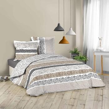 Maison & Déco Parures de lit Douceur d intérieur ZIBRA Blanc