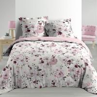 Maison & Déco Parures de lit Douceur d intérieur VELVET FLOWER Blanc
