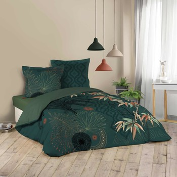 Maison & Déco Parures de lit Douceur d intérieur JAPONI Emeraude