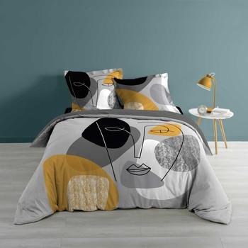 Maison & Déco Parures de lit Douceur d intérieur PRETTY Gris