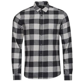 Vêtements Homme Chemises manches longues Only & Sons  ONSGUDMUND Noir / Blanc