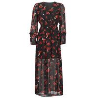 Vêtements Femme Robes longues Moony Mood PILAF Noir / Rouge