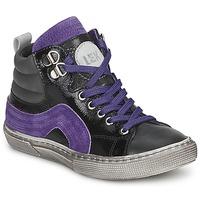 Chaussures Garçon Baskets montantes Little Mary OPTIMAL Noir / Violet