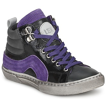 Chaussures Garçon Baskets montantes Little Mary OPTIMAL Noir / Violet