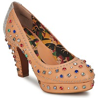 Chaussures Femme Escarpins Miss L'Fire SHOWGIRL Beige