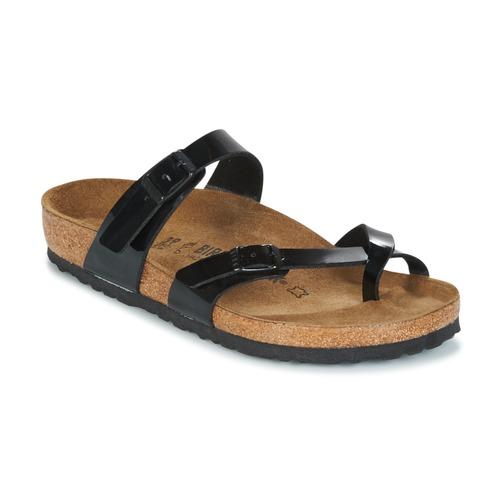 Chaussures Femme Mules Birkenstock MAYARI Noir Verni