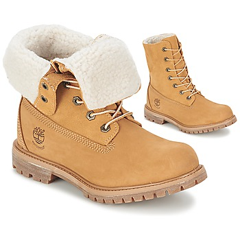 Chaussures Air max tnFemme Boots Timberland AUTHENTICS TEDDY FLEECE WP FOLD DOWN Cognac clair