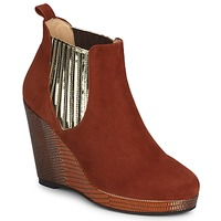 Chaussures Femme Low boots MySuelly LEON Rouille / Or
