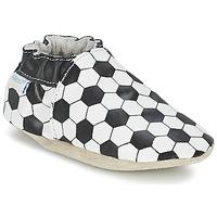 Chaussures Garçon Chaussons bébés Robeez GOAL Noir / Blanc