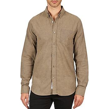 Vêtements Homme Chemises manches longues Kulte CHEMISE CLAY 101799 BEIGE Beige