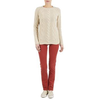 Vêtements Femme Pantalons 5 poches Kulte PANTALON PLANCHER 101819 ROUGE Rouge