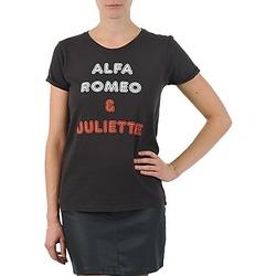 Vêtements Femme T-shirts manches courtes Kulte LOUISA ROMEO 101950 NOIR Noir