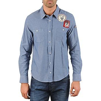 Vêtements Homme Chemises manches longues Mr Marcel NEBRASKA Bleu