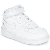 Chaussures Air max tnEnfant Baskets basses Nike AIR FORCE 1 MID TODDLER Blanc