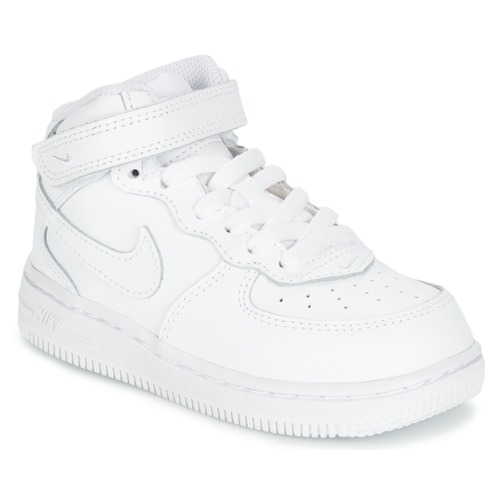 Chaussures Enfant Baskets basses Nike AIR FORCE 1 MID TODDLER Blanc