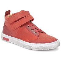 Chaussures Fille Baskets montantes Pom d'Api BACK BASKET Rouge