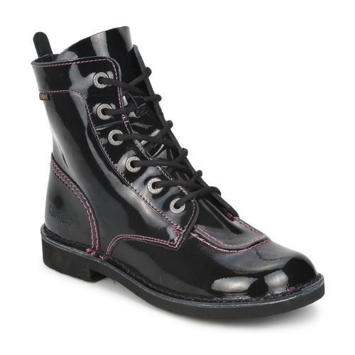 Chaussures Fille Boots Kickers KICK MOOD Noir Vernis
