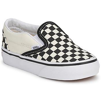Chaussures Enfant Slip ons Vans CLASSIC SLIP ON KIDS Noir / Blanc