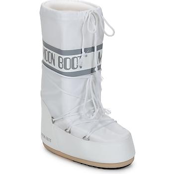 Chaussures Femme Bottes de neige Moon Boot CLASSIC Blanc / Argenté