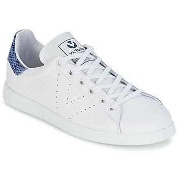 Chaussures Baskets basses Victoria DEPORTIVO BASKET PIEL Blanc / Bleu