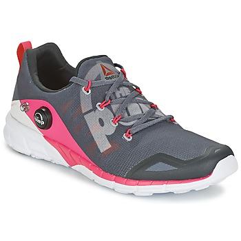 Chaussures Air max tnFemme Running / trail Reebok Sport REEBOK ZPUMP FUSION Gris / Rose