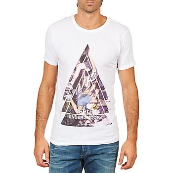 Vêtements Homme T-shirts manches courtes Eleven Paris BERLIN M MEN Blanc