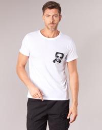 Vêtements Homme T-shirts manches courtes Eleven Paris LENNYPOCK MEN Blanc