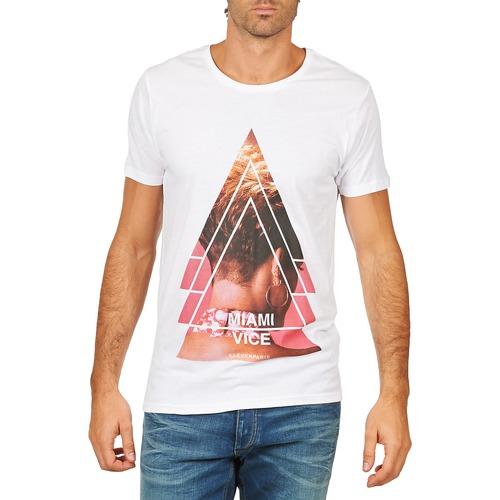 Vêtements Homme T-shirts manches courtes Eleven Paris MIAMI M MEN Blanc