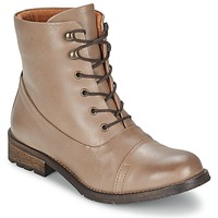 Chaussures Femme Boots Pieces SENIDA LEATHER BOOT Taupe