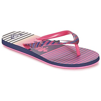 Chaussures Fille Tongs Roxy RG PEBBLES V G SNDL PST Rose rayé