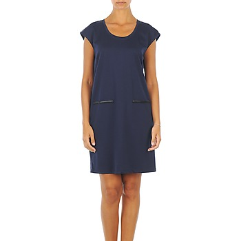 Vêtements Femme Robes courtes Vero Moda CELINA S/L SHORT DRESS Marine