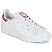 Chaussures Enfant Baskets basses adidas Originals STAN SMITH J Blanc / Rose
