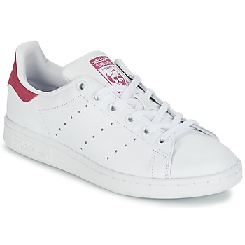 Chaussures Fille Baskets basses adidas Originals STAN SMITH J Blanc
