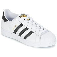 Chaussures Garçon Baskets basses adidas Originals SUPERSTAR J Blanc