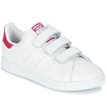 9358ceb3ac4 Chaussures Fille Baskets basses adidas Originals STAN SMITH CF C Blanc
