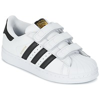 Chaussures Garçon Baskets basses adidas Originals SUPERSTAR FOUNDATIO Blanc / noir