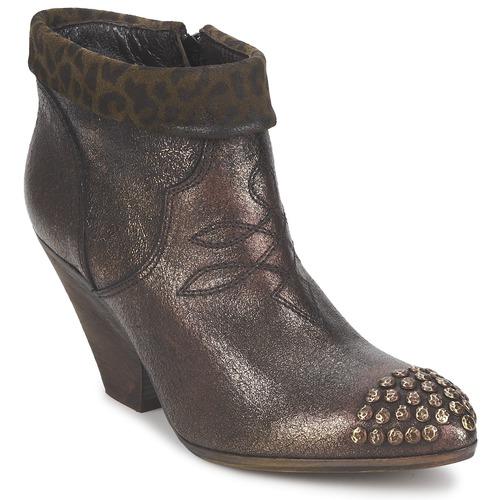 Chaussures Femme Low boots Strategia AILLA Kaki aluminium