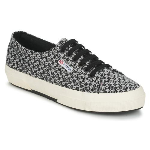 Chaussures Femme Baskets basses Superga 2750 FANTASY Noir / Blanc