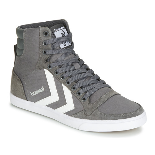Chaussures Baskets montantes Hummel TEN STAR HIGH Gris / Blanc